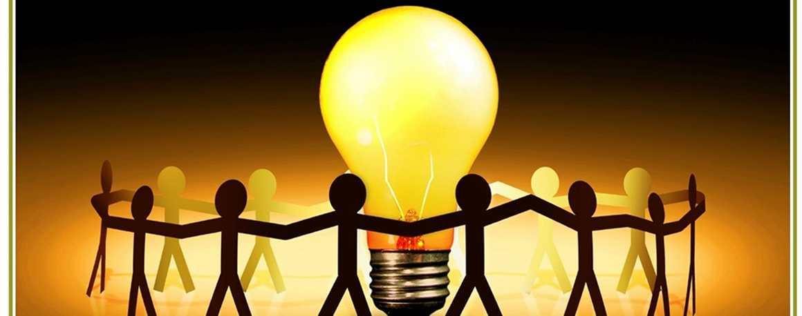 catena umana attorno lampadina