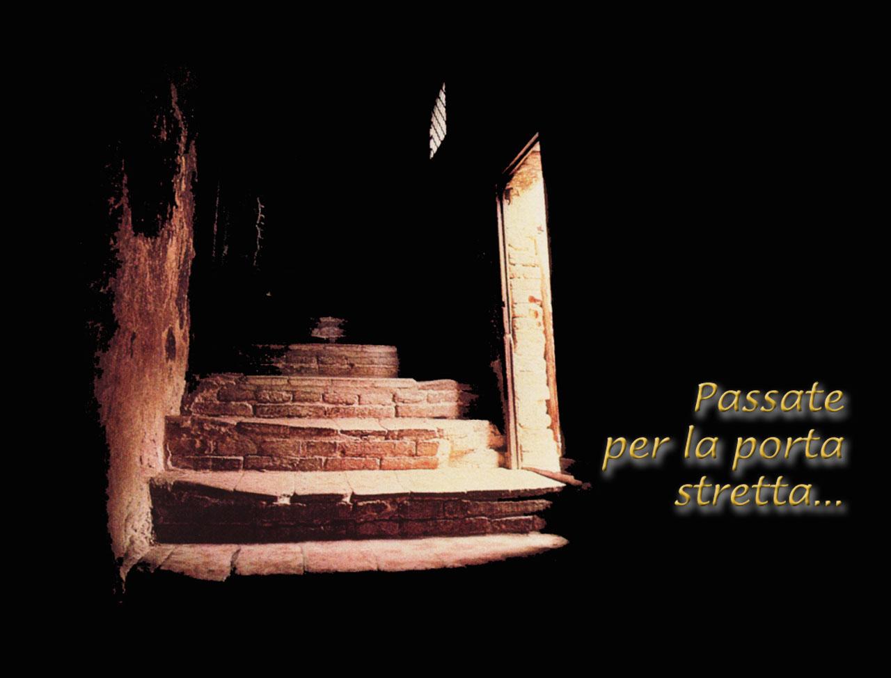 La porta stretta dans immagini sacre Porta-Stretta