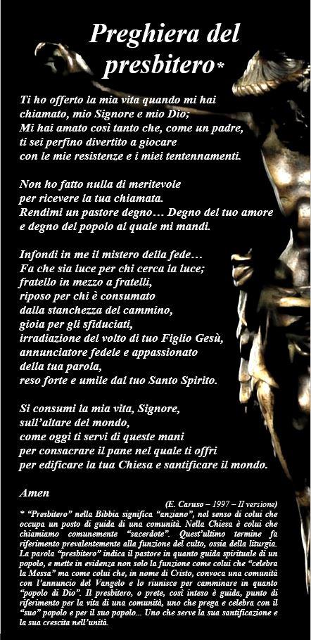 Preghiera del Presbitero (II versione 1997)